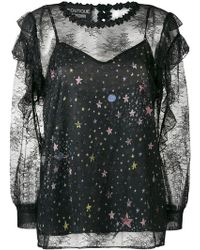 Boutique Moschino - Lace Star Blouse - Lyst