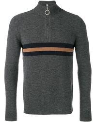 Eleventy ファスナーカラー セーター - グレー