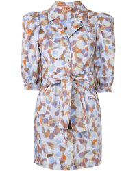 LHD Casita Puff-sleeve Dress - Blue