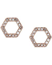 Astley Clarke Honeycomb ダイヤモンドピアス - マルチカラー