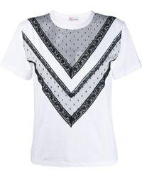 RED Valentino シアーディテール Tシャツ - ホワイト