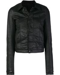 Rick Owens Drkshdw Cropped Fitted Jacket - Black