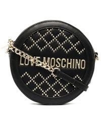 Love Moschino ラウンド ショルダーバッグ - ブラック