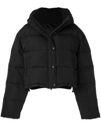 WARDROBE.NYC クロップド パデッドジャケット - ブラック