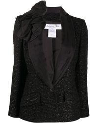 Dior 2000 プレオウンド ブークレ ジャケット - ブラック