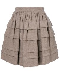 Ermanno Scervino - Layered Mini Skirt - Lyst