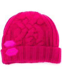 Off-White c/o Virgil Abloh Beanie mit Logo-Patch - Pink
