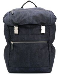 Etro Fold-top Backpack - Blue