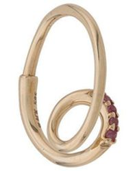 Maria Black - 14kt Yellow Gold Acrobat Sapphire Hoop Earring - Lyst
