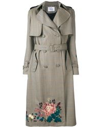 Erdem Embroidered Trench Coat - Natural