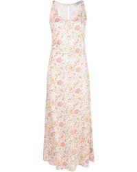 Rachel Comey Vestido midi con estampado floral - Rosa