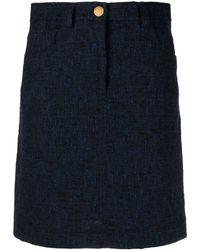 Boutique Moschino ブークレツイード スカート - ブルー