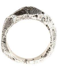 Tobias Wistisen - Rough Finish Ring - Lyst