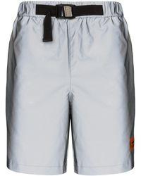 Heron Preston Shorts Met Logo - Grijs