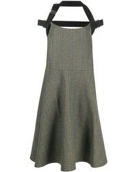 Junya Watanabe チェック ストラップドレス - グリーン