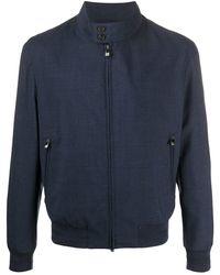 Corneliani Front Zip Bomber Jacket - Blue