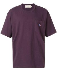 Maison Kitsuné - T-Shirt mit Logo-Patch - Lyst