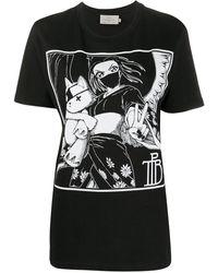 Preen By Thornton Bregazzi Tamiko プリント Tシャツ - ブラック