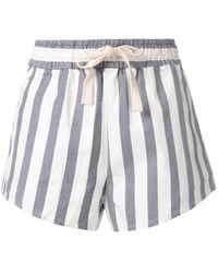 Venroy Shorts con motivo de rayas - Azul