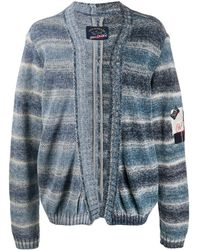 Paul & Shark X Greg Lauren Knitted Stripe Cardigan - Blue