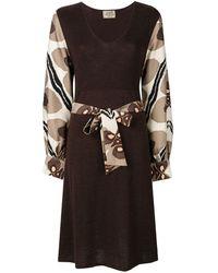 Hermès Vestito con cintura Pre-owned - Marrone