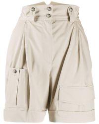 Dolce & Gabbana Shorts a vita alta - Neutro