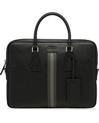 Prada Stripe-detail Briefcase - Black