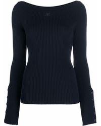 Courreges リブニット セーター - ブルー