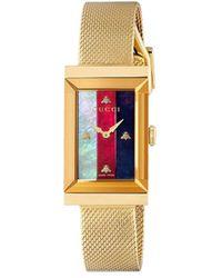 Gucci Наручные Часы G-frame - Металлик