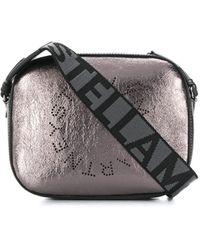 Stella McCartney Bolso cámara Stella con logo - Metálico
