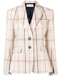 Carven - Checked Fitted Balzer - Lyst