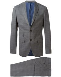 Fashion Clinic Woven Check Suit - Blue
