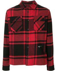 Off-White c/o Virgil Abloh Plaid Shirt - Red
