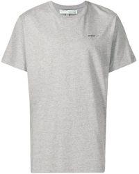Off-White c/o Virgil Abloh T-shirt con logo - Grigio