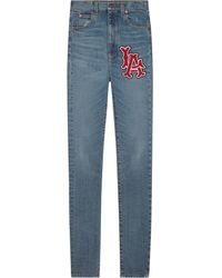Gucci - Women's Skinny Pant With La Angelstm Patch - Lyst
