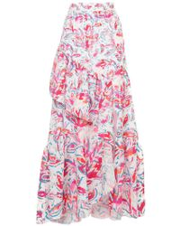 Peter Pilotto - Printed Waffle Long Skirt - Lyst