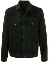 Yohji Yamamoto Snap Button Denim Jacket - Black