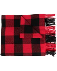 Polo Ralph Lauren Plaid-pattern Knitted Scarf - Red
