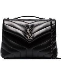 Saint Laurent Petit sac porté épaule Loulou - Noir