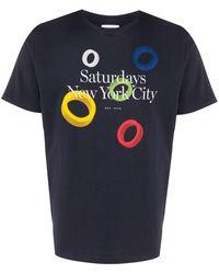 Saturdays NYC グラフィック Tシャツ - ブルー