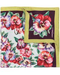 Dolce & Gabbana Sjaal Mee Violetprint - Rood