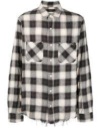 Amiri チェック シャツ - ブラック
