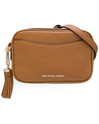 db6ed76f595079 MICHAEL Michael Kors Round Crossbody Bag in Green - Lyst