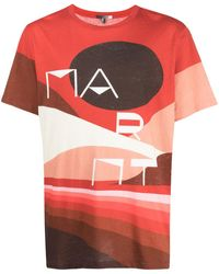 Étoile Isabel Marant T-shirt con stampa - Rosso
