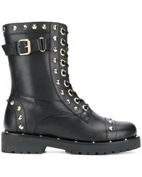 Twin Set - Studded Biker Boots - Lyst