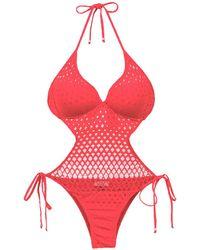 Amir Slama - Cut Out Detail Swimsuit - Lyst