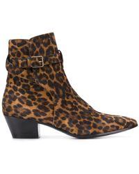 Saint Laurent - West Leather Boots - Lyst