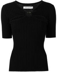 Anna Quan Ary Ribbed Knit T-shirt - Black