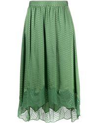 Zadig & Voltaire Joslin Midi Skirt - Green