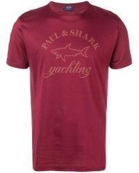 Paul & Shark - Logo Print T-shirt - Lyst